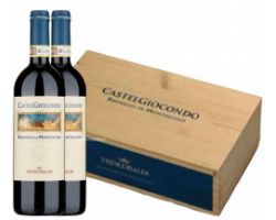 brunello di montalcino docg in wood box  of  6 bottles
